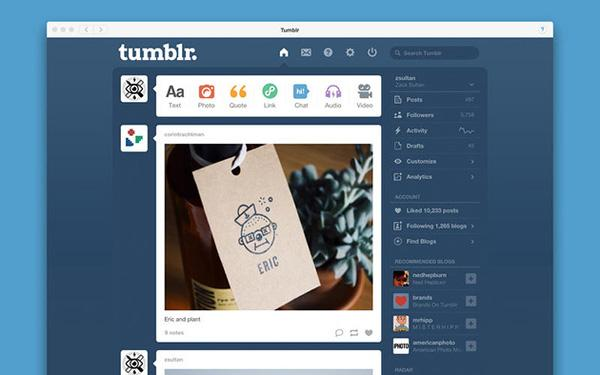 Tumblr, iOS platformunda güncellendi