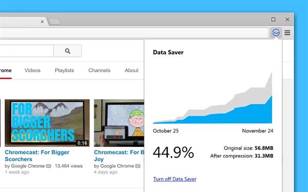 Google'dan Chrome için veri tasarrufu sağlayan eklenti