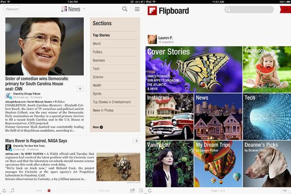 Flipboard'un iOS uygulaması güncellendi