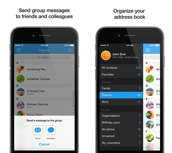 iOS uyumlu Contacts Pro ücretsiz yapıldı