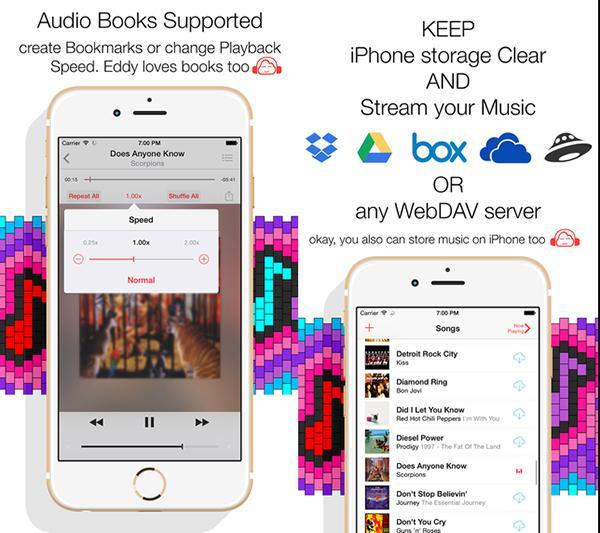 Bulut tabanlı müzik uygulamalarından Eddy Cloud Music Pro artık ücretsiz