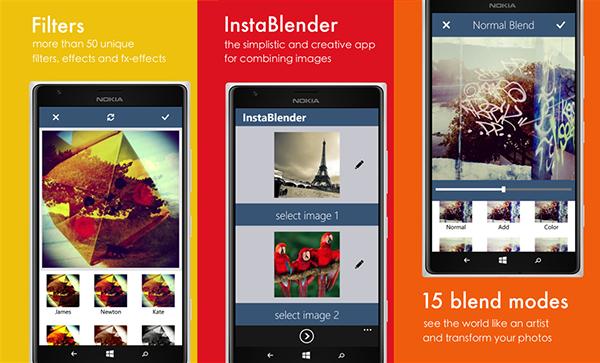 Fotoğraf harmanlama uygulaması InstaBlender'ın Windows Phone sürümü bugün için ücretsiz yapıldı