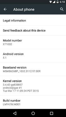 Moto G Google Play Edition modeli Android 5.1 güncellemesine kavuştu