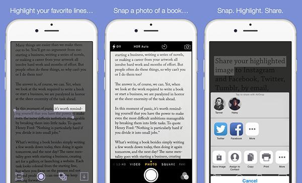 Metin odaklı yeni iOS uygulaması: Snaplight