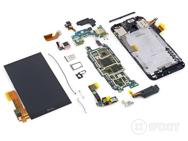 iFixit, metal gövdeli HTC One M9'un da içini açtı