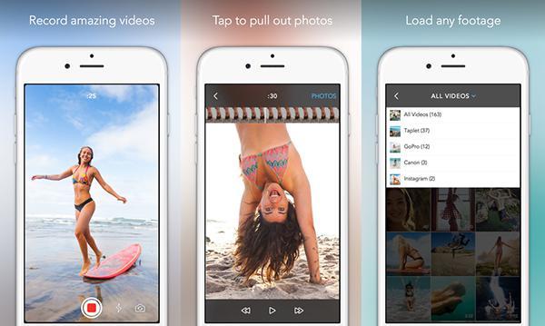 iOS için videolardan fotoğraf çıkartma uygulaması: Taplet
