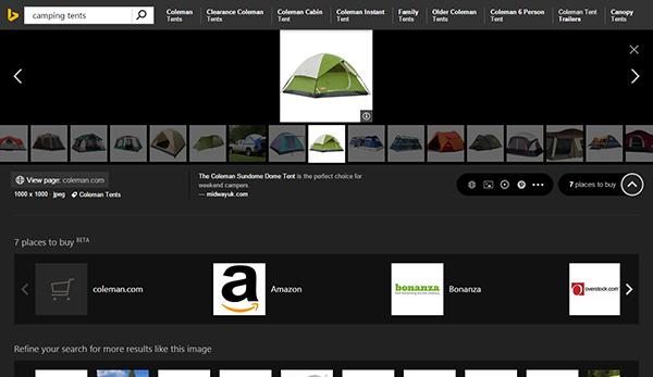 Bing'in görsel arama bölümü yenilendi