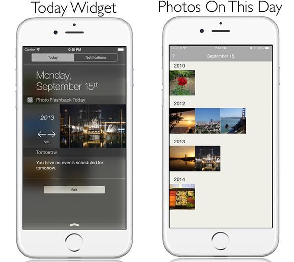 Geriye dönük fotoğraf gösterimi sunan iOS uygulaması Photo Flashback güncellendi