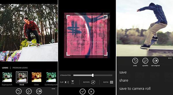 Windows Phone için Photoshop Express güncellendi