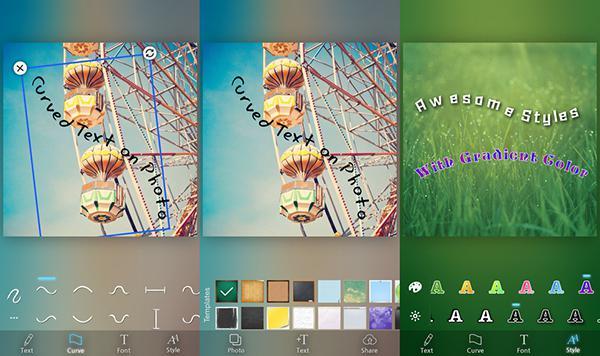 iOS uyumlu Curved Tex artık ücretsiz
