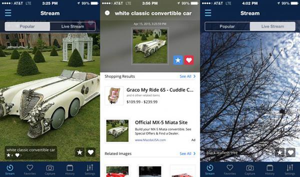 CamFind'in iOS ve Android uygulaması kendi sosyal ağına kavuştu