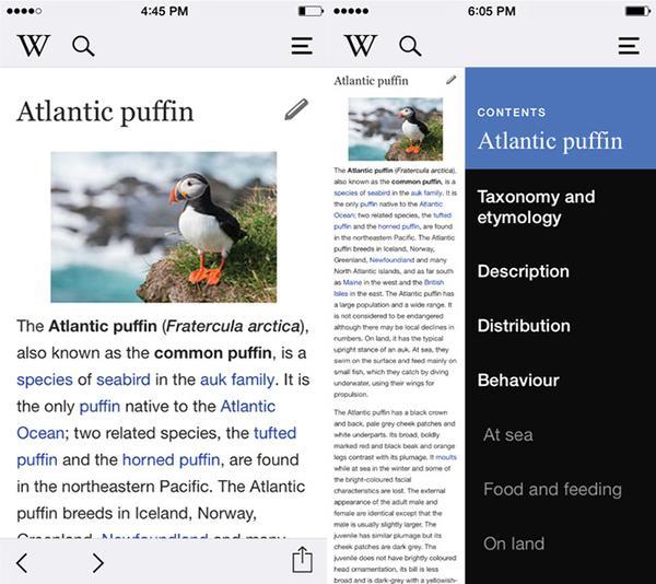 Wikipedia'nın iOS uygulaması detaylı bir güncelleme aldı