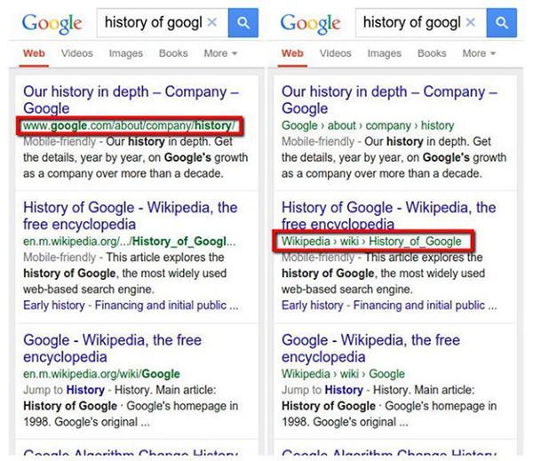 Google, mobil arama sonuçlarında daha basit bağlantılar kullanmaya başladı