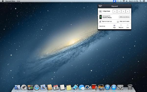 OSX sistem güvenliği için çalışan Keycard uygulaması artık ücretsiz