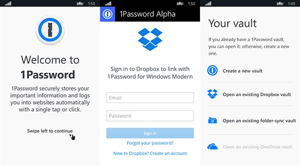 Windows ve Windows Phone 8.1 için 1Password'un yeni Alpha sürümü yayınlandı
