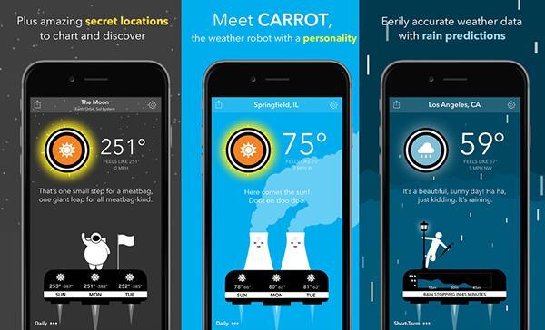 iOS platformuna konuşabilen hava durumu uygulaması CARROT Weather güncellendi