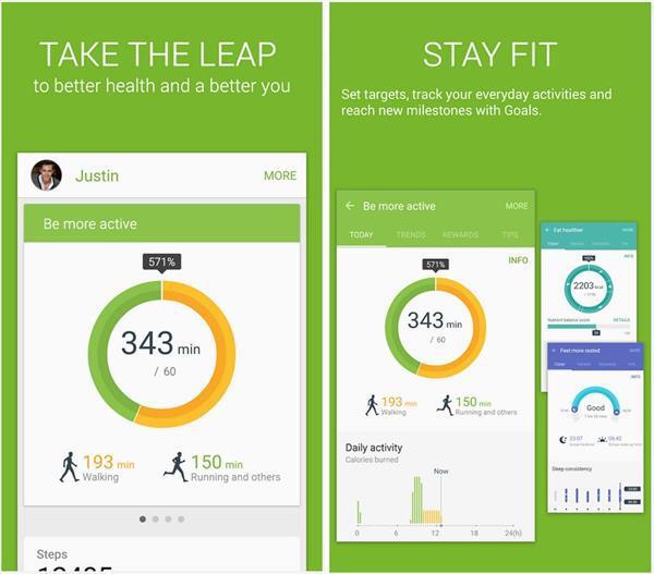 Samsung S Health artık Google Play'de mevcut