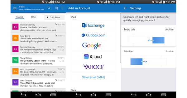Android için Outlook'un