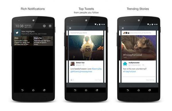 Twitter'ın Android uygulaması öne çıkan içerikleri göstermeye başladı