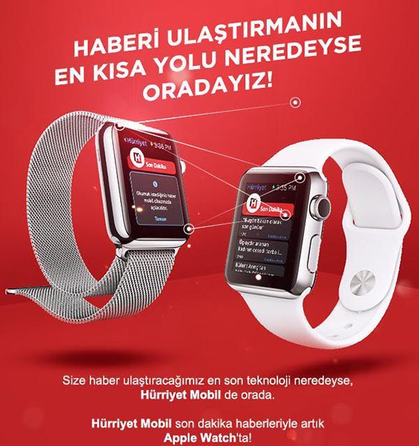 Hürriyet'in Apple Watch uygulaması yayınlandı