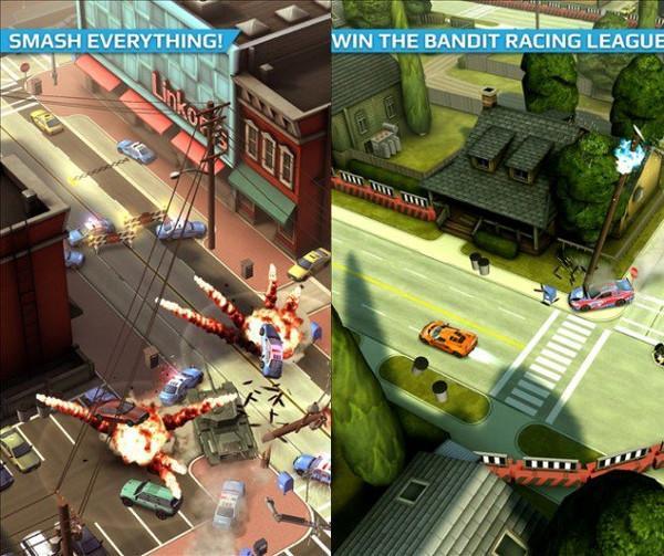 Smash Bandits artık Windows Phone'da