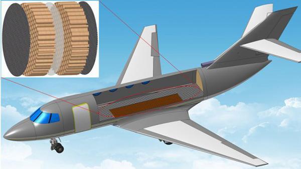 Ultra ince kabin kaplamasıyla uçak kabinleri 100 kat daha sessiz yapılabiliyor