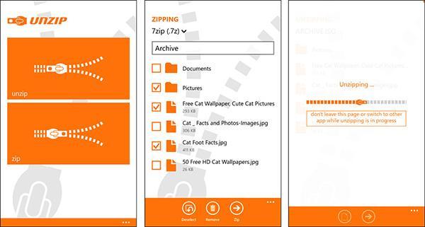 Windows Phone için haftanın ücretsiz uygulaması: Un Zip