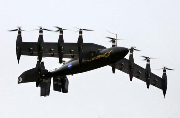 NASA'nın 10 elektrik motorlu insansız hava aracı başarılı bir test daha geçirdi