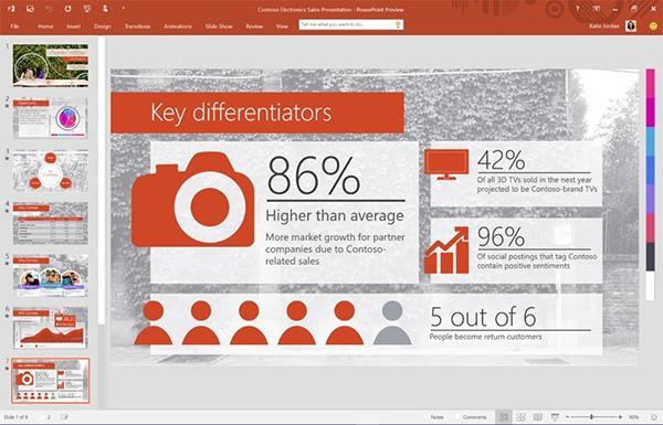 Microsoft Office 2016'nın önizleme sürümü bütün Windows kullanıcıları için kullanıma sunuldu