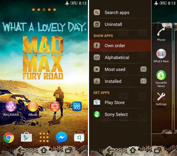 Sony, Xperia cihazları için Mad Max temasını yayınladı