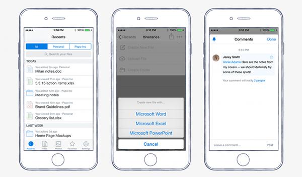 iOS için Dropbox güncellendi