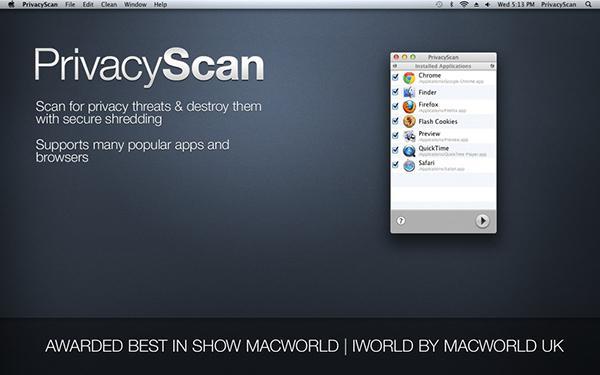 Mac uyumlu PrivacyScan indirime girdi