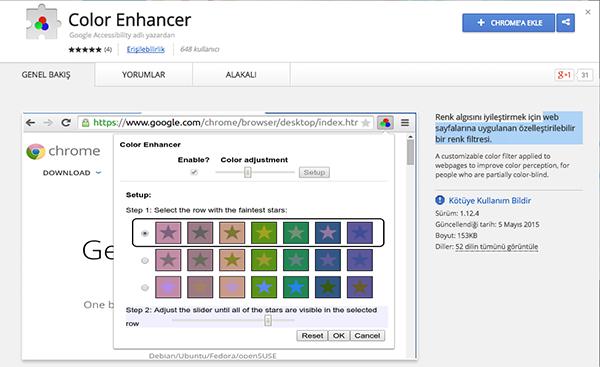 Google'ın yeni Chrome eklentisi renk körlerini hedef alıyor