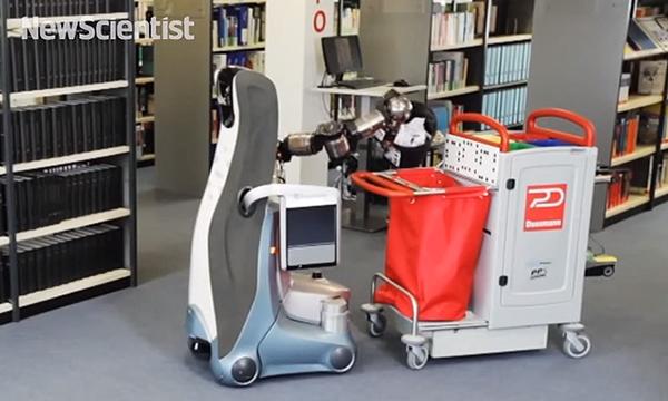 Almanya'nın en büyük temizlik şirketlerinden Dussmann, otonom temizlik robotları test ediyor