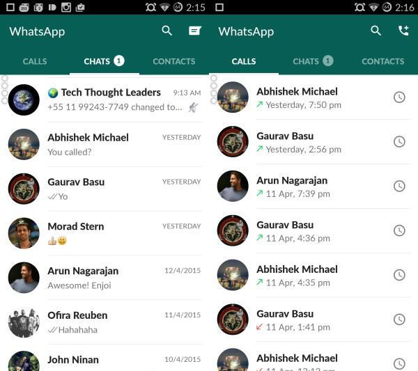 WhatsApp'ın yeni Materyal tasarımı herkes içim kullanıma sunuldu