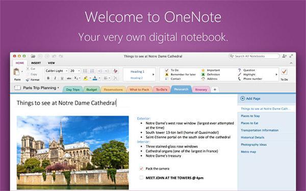 Mac uyumlu Microsoft OneNote güncellendi