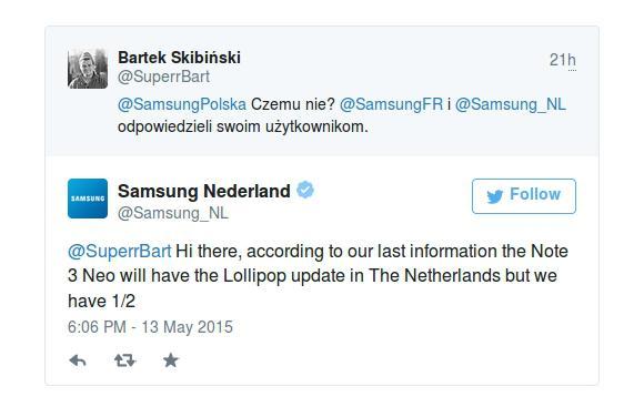 Samsung Hollanda Note 3 Neo için Lollipop güncellemesini onayladı