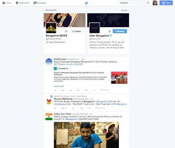 Twitter, yeni arama arayüzünü herkes için hayata geçirdi