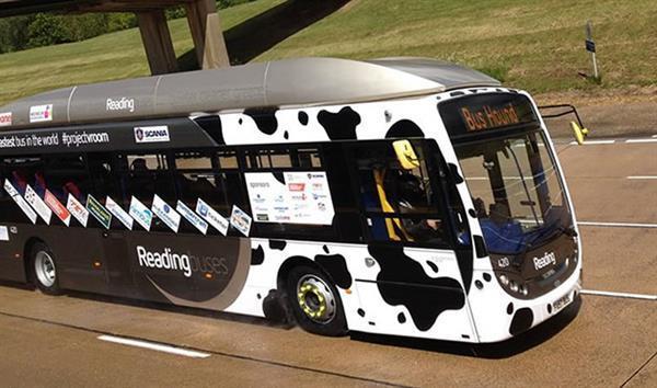 Yakıtını dışkılardan karşılayan otobüs hız rekorunu kırdı