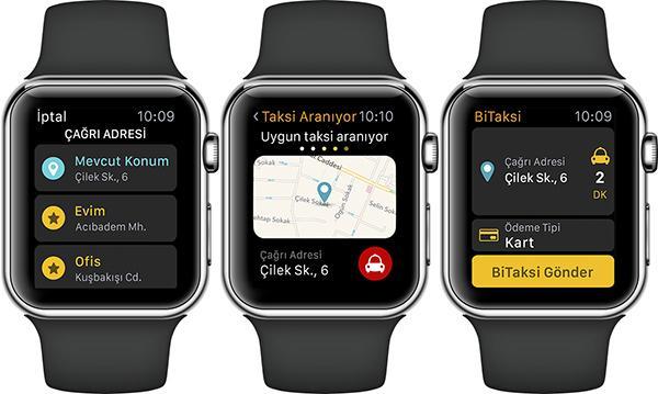BiTaksi'nin yeni uygulamasıyla Apple Watch üzerinden taksi çağırılabiliyor
