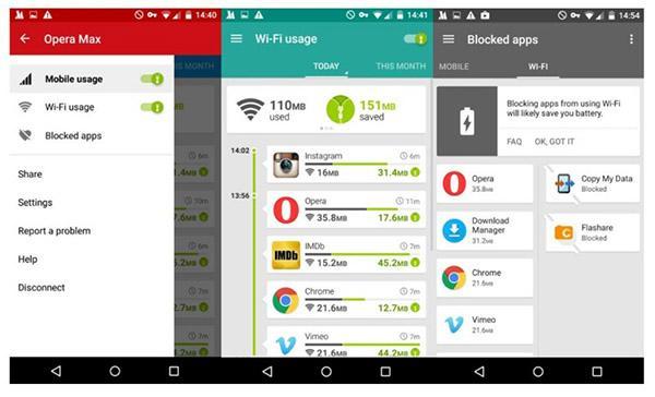 Android için Opera Max güncellendi