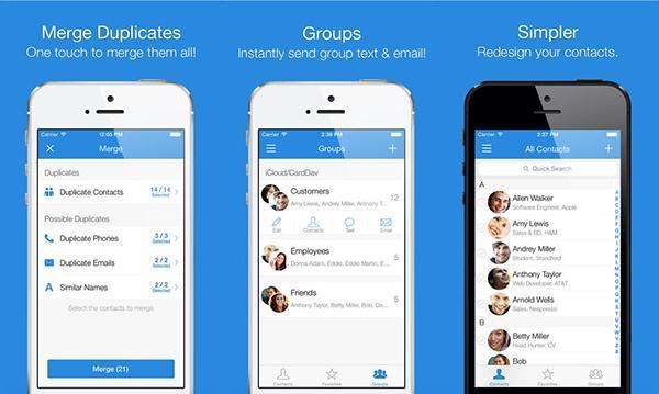 iOS uyumlu Simpler Contacts Pro kısa bir süre için ücretsiz