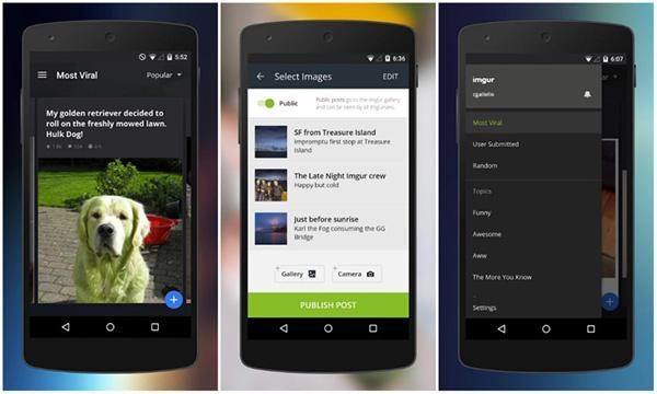 Fotoğraf paylaşma ve depolama servisi Imgur'un resmi Android uygulaması güncellendi