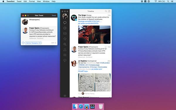 Alternatif Twitter istemsici Tweetbot, OSX tarafında güncellendi
