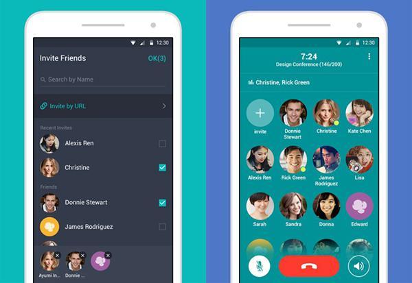 Line'ın yeni Android uygulaması Popcorn Buzz, aynı anda 200 kişinin konuşmasına imkan tanıyor