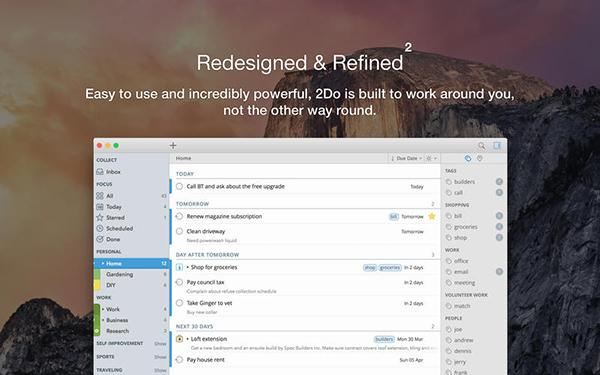 2Do'nun Mac uygulaması %50 indirime girdi