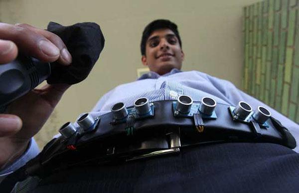 18 yaşındaki gençten görme engellilere özel kemer: iAid
