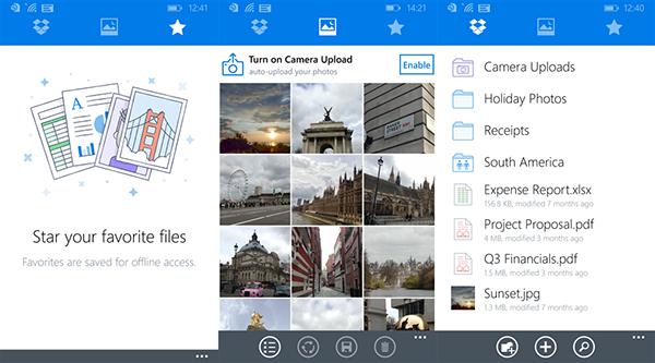 Dropbox'un Windows ve Windows Phone uygulamaları güncellend,