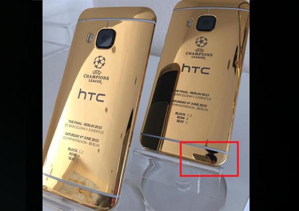 HTC'nin paylaştığı 24 karat altın M9 modeline ait fotoğrafların iPhone 6 ile çekildiği ortaya çıktı