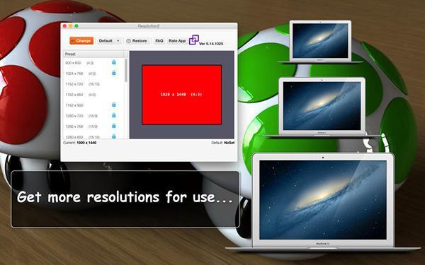 Mac özel Resolution2 uygulaması ücretsiz yapıldı